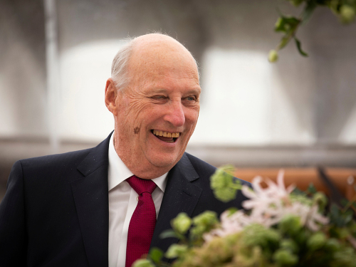 King Harald during lunch at La Moneda. Photo: Tom Hansen, Hansenfoto.no