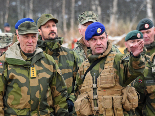 The King and the Crown Prince visit NATO's Trident Juncture 2018 exercise. Photo: Sven Gj. Gjeruldsen, The Royal Court