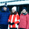 Prince William, Duchess Catherine, Crown Prince Haakon and Crown Princess Mette-Marit in Holmenkollen. Photo: Terje Pedersen / NTB scanpix