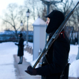 The King's Guard stands outside the Royal Palace 24 hours a day - every day (Photo: Håkon Mosvold Larsen / Scanpix)