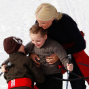 Crown Princess Mette-Marit with Princess Ingrid Alexandra and Prince Sverre Magnus (Photo: Lise Åserud / Scanpix)