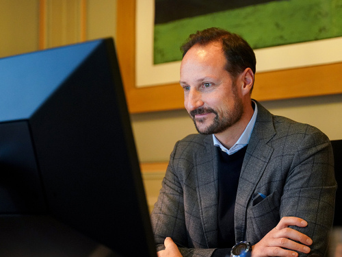 Crown Prince Haakon met with representatives of the Norwegian Refugee Council in Oslo – and Afghanistan, Iraq, Yemen and Lebanon. Photo: The Royal Court
