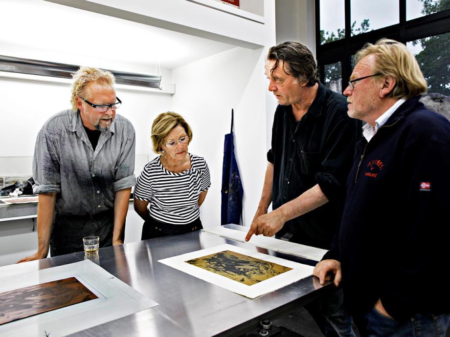 The four founders at work. Photo: Rolf M. Aagaard, the Royal Court