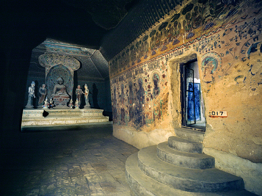 The entrance to cave 17, was discovered inside cave 16. Photo: Wu Jian 吴健, pictures provided by Dunhuang Academy.