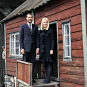 Crown Prince Haakon and Crown Princess Mette-Marit at Helleren during their visit to Rogaland county, September 2009. Handout picture from The Royal Court. For editorial use only - not for sale. Photo: Knut S. Vindfallet / Sokndal kommune.