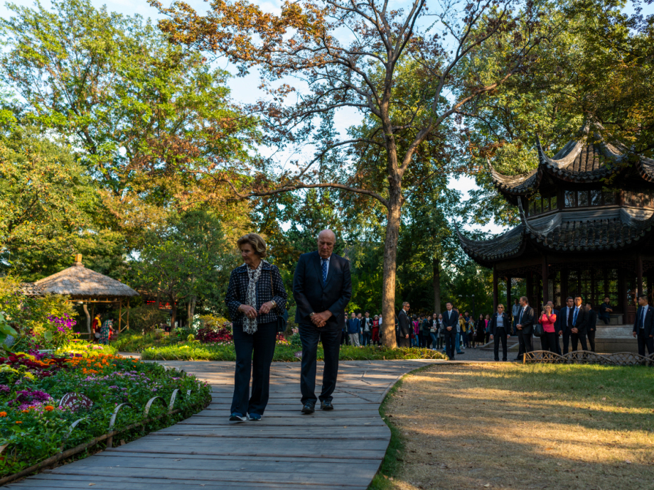 "The King and Queen concluded their State Visit at ""the mother of all Chinese gardens"". Govva: Tim Haukenes"