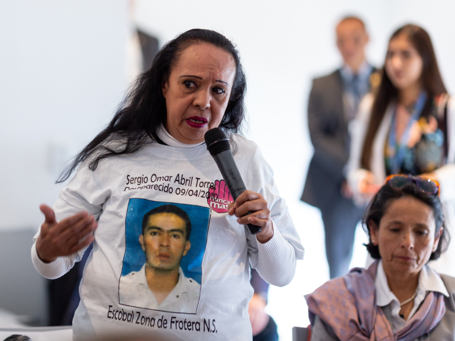 Ómar Abril Torres disappeared in April 2010. His mother Carmen now works for one of the organisations helping victims of the conflict. Photo: FN-sambandet / Eivind Oskarson