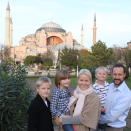 At the beginning of the journey: The Crown Prince and Crown Princess' family in front of Hagia Sofia in Istanbul. Published 22.12.2010. Handout picture from The Royal Court. For editorial use only, not for sale. Photo: The Royal Court. Image size: 4752 x 3168 px, 5,67 Mb.