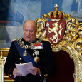 King Harald delivers the Speech of the Throne, opening the 157th Storting (Photo: Erlend Aas / NTB scanpix)