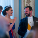 Crown Princess Victoria of Sweden and Guillaume, Hereditary Grand Duke of Luxembourg. Photo: Heiko Junge / NTB scanpix