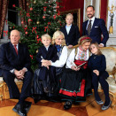 The Royal Family gathered for Christmas photos at the Royal Palace (Photo: Lise Åserud, Scanpix)