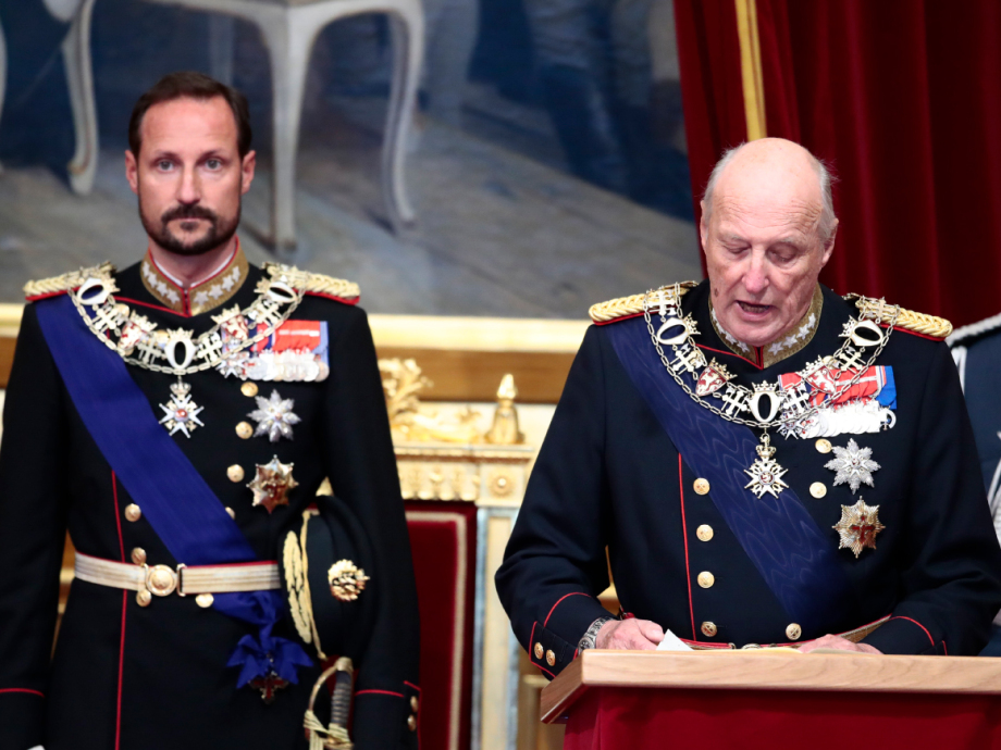 King Harald reads the Speech from the Throne. Photo: Lise Åserud / NTB scanpix