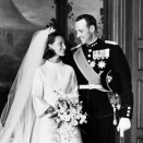 Then Crown Prince Harald and Crown Princess Sonja married 29 August 1968 (Archives, Scanpix)