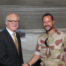 Crown Prince Haakon and UN special envoy Mr Kai Eide. Hand out picture from The Royal Court. For editorial use only - not for sale. Picture size: 5616x 3744 px, 6,13 Mb (Photo: Norwegian Armed Forces)