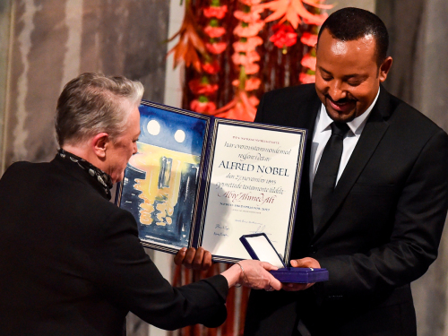 Abiy Ahmed receives the Nobel Peace Prize. Photo: Håkon Mosvold Larsen / NTB scanpix