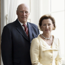 Their Majesties King Harald and Queen Sonja. Published 22.01.2011. Handout picture from The Royal Court. For editorial use only, not for sale. Photo: Sølve Sundsbø / The Royal Court.