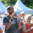 Crowon Prince Haakon enjoying the festival (Photo: Aleksander Andersen / NTB scanpix)