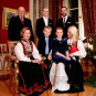 19 December the Royal Family gathered for a Christmas photo shoot at the Royal Palace (Photo: Håkon Mosvold Larsen, NTB scanpix)