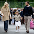 The princess on her way home after her first day of school. (Photo: Stian Lysberg Solum / Scanpix)