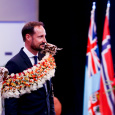 Crown Prince Haakon during the welcoming ceremony in Fiji's capital, Suva. Photo: Karen Setten / NTB scanpix