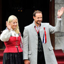 Crown Prince Haakon and Crown Princess Mette-Marit outside Skaugum Estate (Photo: Fredrik Varfjell / NTB scanpix)