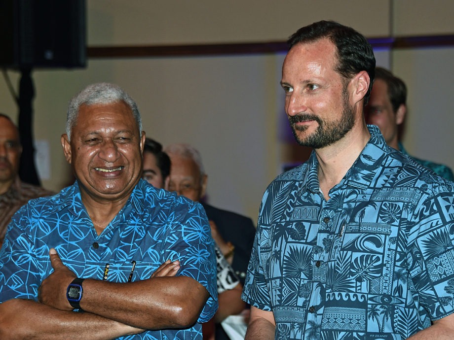 Prime Minister Frank Bainimarama hosted a reception for the Crown Prince and the Norwegian delegation. Photo: Sven Gj. Gjeruldsen, The Royal Court
