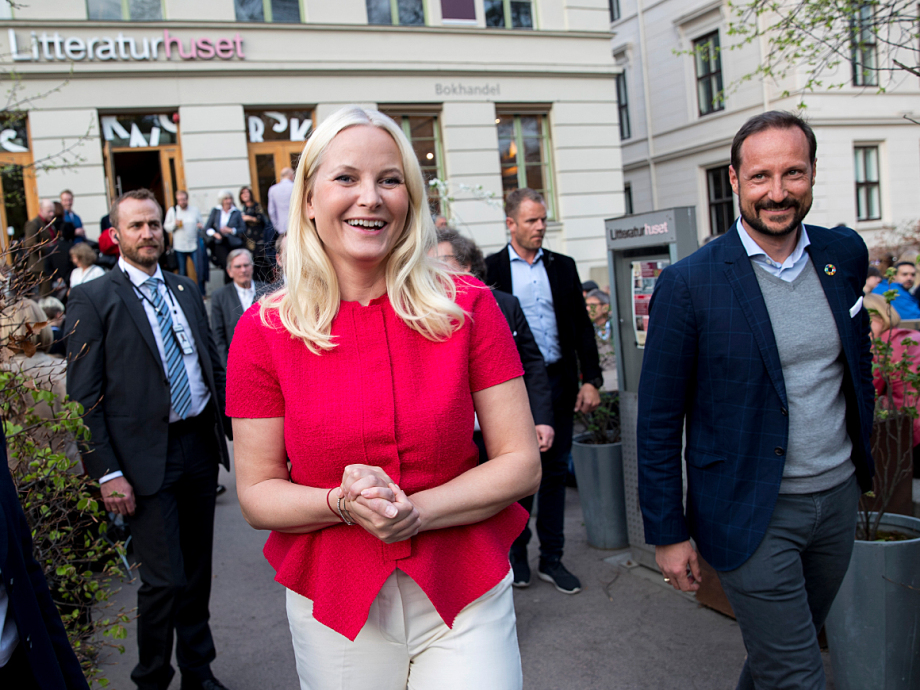 Crown Prince Haakon met The Crown Princess after the opening. Photo: Vidar Ruud / NTB scanpix