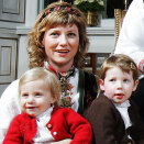 Princess Märtha Louise with her daughters, Christmas 2006 (Photo: Lise Åserud, Scanpix)