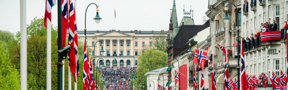 Karl Johan Street and the Royal Palace on Contitution Day. Photo: Fredrik Varfjell / NTB scanpix