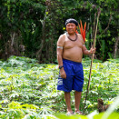 The King's host, Daví Kopenawa, is the leader of the Yanomami and their international spokesperson. (Photo: Rainforest Foundation Norway / ISA Brazil)