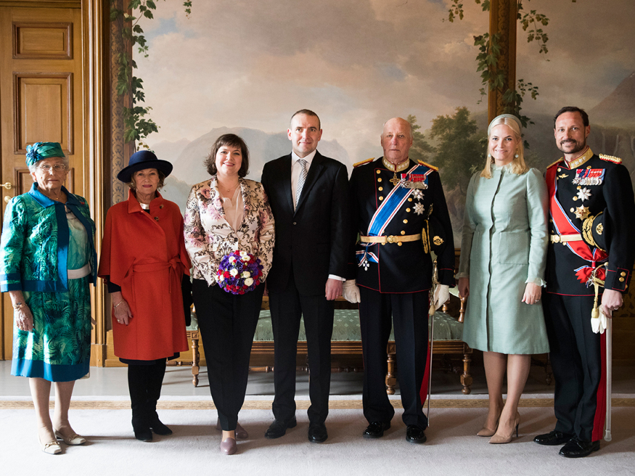 Official photograph from the Royal Palace's Bird Room. Photo: Berit Roald, NTB scanpix