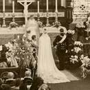 The wedding ceremony in Oslo Cathedral (Photographer unknown, The Royal Court Photo Archives)