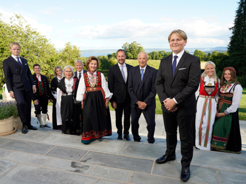 Photo session at Skaugum Estate on the occasion of Prince Sverre Magnus's confirmation. Photo: Lise Åserud, NTB scanpix