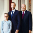 Three generations: King Harald, Crown Prince Haakon and Princess Ingrid Alexandra. Photo: Jørgen Gomnæs / The Royal Court