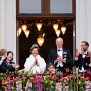 The Royal Familiy on the Palace balcony. Photo: Jon Olav Nesvold / NTB scanpix