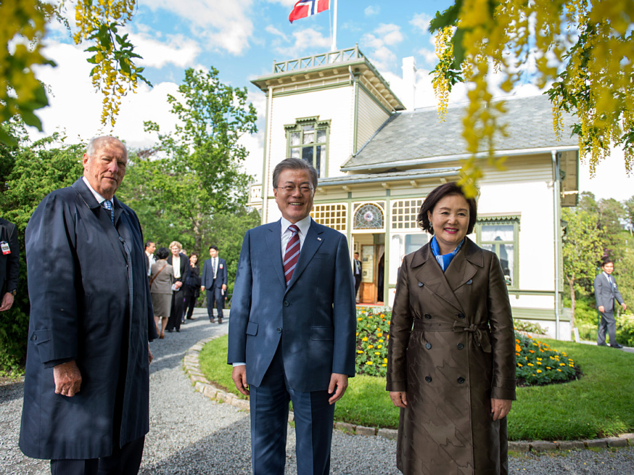 The State Visit was concluded at Troldhaugen, the home of composer Edvard Grieg. Photo: Marit Hommedal / NTB scanpix