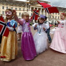 Children from Godlia kindergarten had dressed as princesses for the occasion (Photo: Lise Åserud / NTB scanpix)