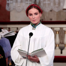 The princess read the Prayer of Saint Francis. Photo: Lise Åserud, NTB scanpix