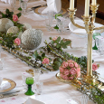 The table decorated for a gala dinner. Photo: Kjartan Hauglid, The Royal Court