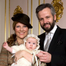 Princess Märtha Lousie and Ari Behn with Emma Tallulah on the day of her baptism (Photo: Bjørn Sigurdsøn, The Royal Court / Scanpix)
