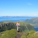 "From Her Majesty The Queen's ""Impressions of Norway"": The Queen hiking on the peak of Matmora mountain in Lofoten.  Handout photo from The Royal Court. Published 27.11.2012. For editorial use only, not for sale. Photo: Private. Size: 4000 x 3000 px, 4,79 Mb."