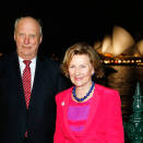 King Harald and Queen Sonja after the reception at the Museum of Contemporary Art. Photo: Lise Åserud, NTB scanpix