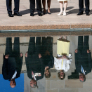 By the Pool of Reflection at the Australian War Memorial. Photo: David Gray, Reuters / NTB scanpix