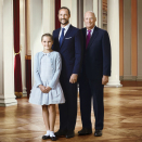 His Majesty The King, His Royal Highness Crown Prince Haakon and Her Royal Highness Princess Ingrid Alexandra. Handout picture from the Royal Court published 15.01.2016. For editorial use only, not for sale. Photo: Jørgen Gomnæs / The Royal Court.