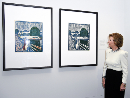 This is the largest exhibition of Munch's graphic works in the UK in 45 years. Photo: Doug Peters/EMPICS Entertainment / NTB scanpix