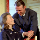 19 March 1968 at 11:00 there was an official announcement from the Royal Palace: Crown Prince Harald and Miss Sonja Haraldsen were engaged to be married. Photo: NTB Arkiv / Scanpix