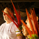 The feathers are worn by the men of the village on special occasions (Photo: Rainforest Foundation Norway / ISA Brazil)