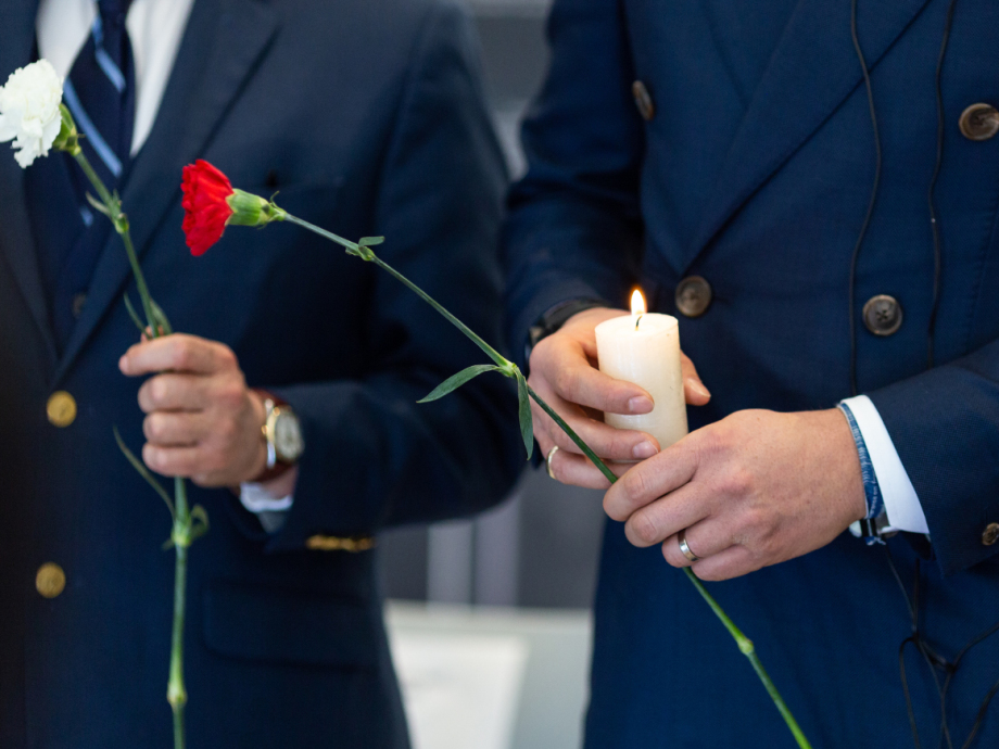 A ceremony with candles and flowers was held with some victims of the lengthy war in Colombia. Photo: FN-sambandet / Eivind Oskarson