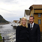 Crown Prince Haakon and Crown Princess Mette-Marit in Sogndalstrand during their visit to Rogaland county, September 2009. Handout picture from The Royal Court. For editorial use only - not for sale. Photo: Knut S. Vindfallet / Sokndal kommune.