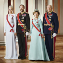 Their Majesties The King and Queen and Their Royal Highnesses The Crown Prince and Crown Princess. Handout picture from the Royal Court published 15.01.2016. For editorial use only, not for sale. Photo: Jørgen Gomnæs / The Royal Court.